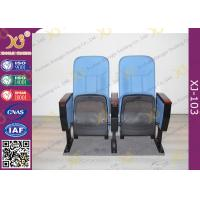China Fabric Padder Prayer Seat Stacking Church Hall Chairs With Tablet And Book Rack wholesale