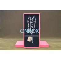 China Solid Luxury Cardboard Jewelry Boxes , Removable Insert Pads For Necklace wholesale