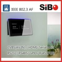 China Meeting Room Booking 7 Inch Android POE Touch Panel With RGB LED Light wholesale