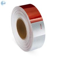 China Adhesive DOT Reflective Tape , Honeycomb Hi Viz Fmcsa Reflective Tape On Dump Trucks wholesale
