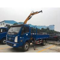 China Factory sale best price YUEJIN 3tons knuckle crane boom mounted on truck, YUEJIN hydraulic folded truck with crane wholesale