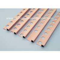 China Durable 10mm Metal Square Edge Tile Trim For Counter Top Or Window Sill wholesale