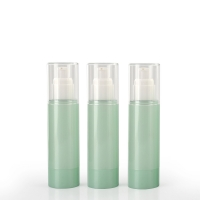 China Green Cosmetic PET Empty Packaging Plastic Lotion Bottles wholesale