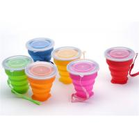 China Portable Retractable Silicone Drinking Cups 300ml Capacity For Travel wholesale