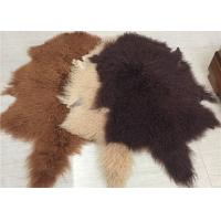 China 2 * 4 Feet Home Upholstery Mongolian Lamb Throw Blanket With Hide Pelt wholesale
