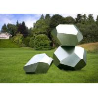 China Stainless Steel Garden Sculptures Sandblasting Square Decoration wholesale