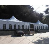 China Large Luxury White Outdoor Event Tent High Peak Frame Durable For Exhibition wholesale