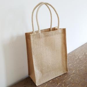 China Long Rope Reusable Jute Shopping Bags / Elegant Jute Monogram Tote Bag on sale