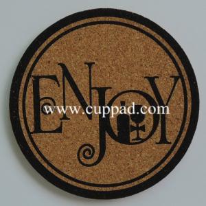 China round cork coaster, heat resistant cork coaster wholesale