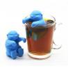 China BPA Free Animal  Otter Shaped design Food Grade Silicone Tea bags wholesale