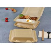 Buy cheap Takeaway lunch box bagasse disposable biodegradable clamshell food container from wholesalers