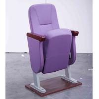 China Cheap Purple Fabric Stackable Church Chairs With Padded Seat Base For Sale wholesale