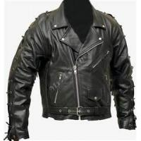 China Fashion style S M L XL  black soft thin leather 100% polyester jacket for men wholesale