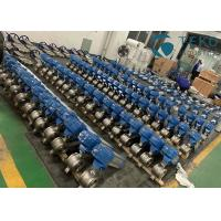 China Stainless Steel V Port Design Pneumatic Segment Ball Valve For Paper & Pulp on sale