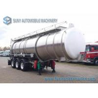 China 33000 L Acid Solution Chemical Tank Trailer 3 Axle Aluminum Tanker on sale