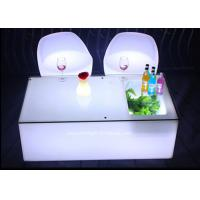 Quality Mobile KTV Decoration LED Light Furniture Colors Changeable With Glass Top for sale
