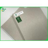 Buy cheap 1200G 2MM Thick Cardboard Uncoated Laminated Gray Carton Recycled Grey Board from wholesalers