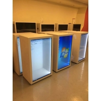 China 1920X1080 49inch Transparent LCD Cabinet Box 400cd/m2 wholesale