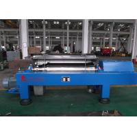 China Blue Horizontal Decanter Centrifuge Speed 3600 R/Min Starch Washing And Dehydrating wholesale
