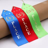 China Colorful Rosette Horse Ribbon Polyester / Nylon Material Two Inch Width wholesale
