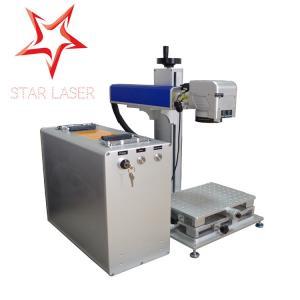 China Blue 10W Fiber Laser Marking Machine, Pipe Laser Marking Engraving Machine wholesale