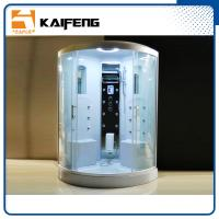 China Residential Steam Shower Tub Combo With White ABS Back Wall 2 Mirrors wholesale