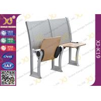 China Plywood School / College Classroom Furniture Connected Table And Chair wholesale