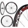China Compagnolo Carbon Fiber Bike Wheels 50mm 25mm Wide 3k Matte Finish wholesale
