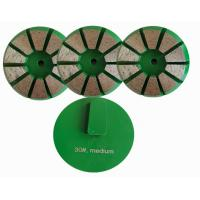 China Professional Quality Terrco Diamond Grinding Stones with 8 Triangle Segments For Concrete Floor wholesale