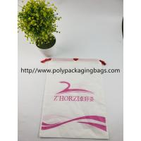 Quality Fashional Plastic Bags With Drawstring Closure , Customized Logo Printed for sale