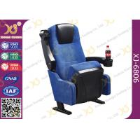 China Blue Fabric Folding VIP Cinema Seating , Plastic Theater Seats wholesale