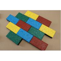 China 50*50cm Rubber Sports Flooring Thickness15-40mm Weight 3.6kg-8.4kg wholesale