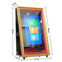 China 65 inch make your own cheap selfie magic mirror photo booth price with 50 inch LED screen for sale wholesale