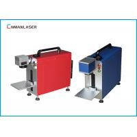 Buy cheap Metal Hardware Nameplate PVC Pipe 20w Metal Laser Marking Machine With Rotary System from wholesalers