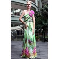 China Fresh Tencel Print Prom Gowns LF1030579 wholesale