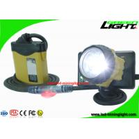 China Waterproof LED Miner Headlight with Security Warning Light , 25000 Lux Rechargeable Mining Safety Helmet Lamp on sale
