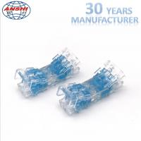 Buy cheap Four Pair Inline Scotchlok Wire Connectors 0.4 - 0.7mm Transparent Lock Joint from wholesalers