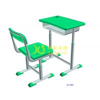 China Height Hollow Polythylene Adjustable Student Desk And Chair Set Size 600*400mm wholesale
