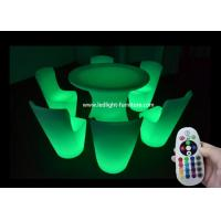 China Special Lighted Bar Furniture / LED Illuminated Furniture With Plastic Material wholesale