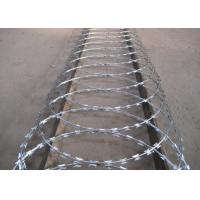 China High Security Powder Coated Barbed Wire Fence For Express Highway Guardrails wholesale