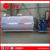 China Large Scale Stainless Steel Horizontal Milk Cooling Tank 380v / 220v 2000L wholesale