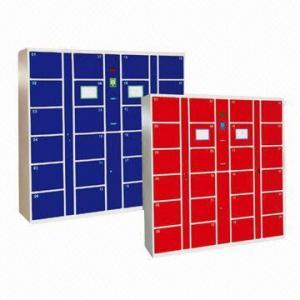 China Lockers with 24 Doors, Thermal Print Barcode Slip and Digital LED Display wholesale