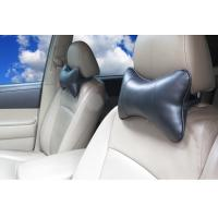 China hot sell dog bone shape PU leather black color car truck neck pillow wholesale