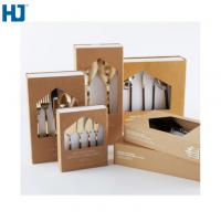 Buy cheap Brown Tableware Cardboard Packing Boxes Customized Folding With Big Window from wholesalers