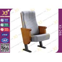 China Commercial Molded PU Foam Auditorium Chairs With Floor Mounted Fabric Cover wholesale