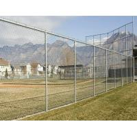 China Professional  Metal Chain Link Fence Galvanized Diamond Mesh Fencing For Public / Sport wholesale