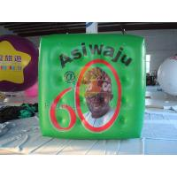 China Green Political Advertising Bal, Inflatable Advertisement Helium Cube for Political events wholesale