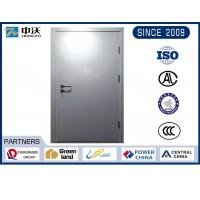 China Metro Silver Steel Insulated Fire Door With Solid Structure Wear Resistance wholesale