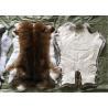 China Sheared Rabbit Fur Coat Usage , Fluffy Hairs White Rabbit Fur Pelts For Garment wholesale