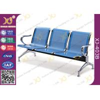 China Hospital Iron Structure Full Welding 3 Seater Waiting Chair With Cushion wholesale